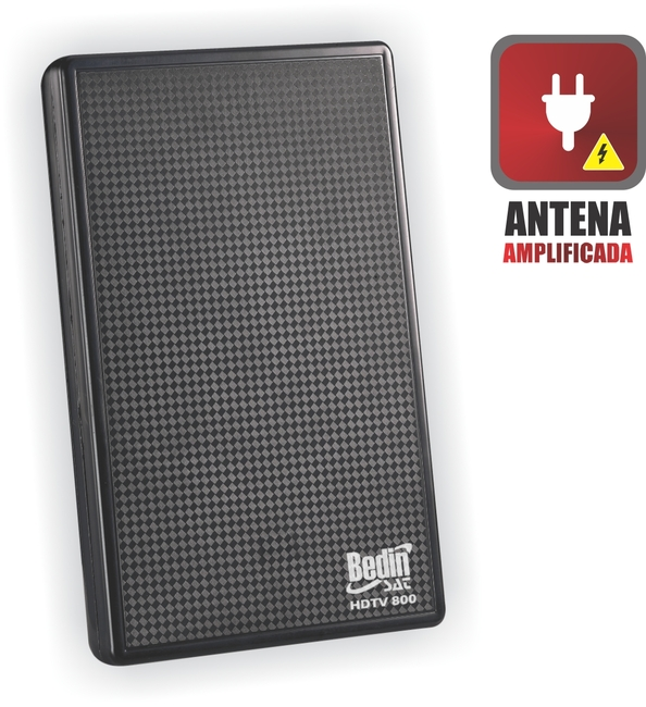 ANTENA DIGITAL INTERNA HDTV 8000 (AMPLIFICADA)