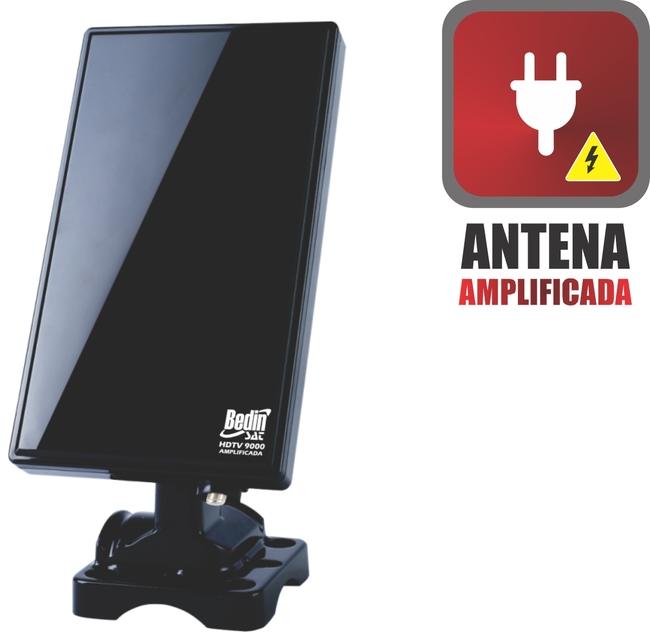 ANTENA DIGITAL INTERNA/EXTERNA HDTV 9000 (AMPLIFICADA)