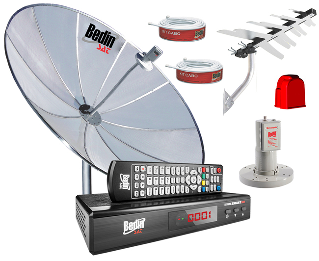 KIT RECEPTOR E CONVERSOR BS 9500 + ANTENA DIGITAL
