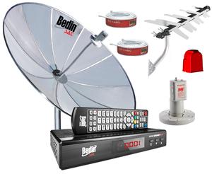 KIT RECEPTOR E CONVERSOR BS 9500 + ANTENA DIGITAL