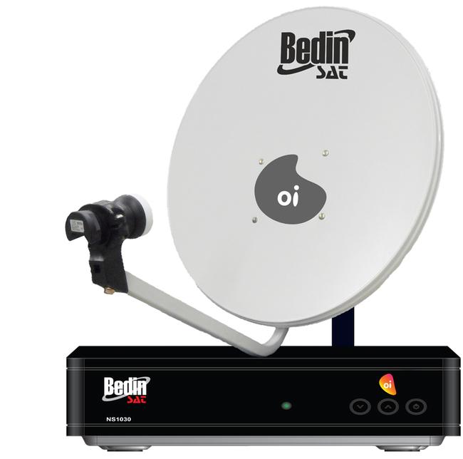 KIT BEDINSAT OI TV HD COM ANTENA DE CHAPA 75 CM