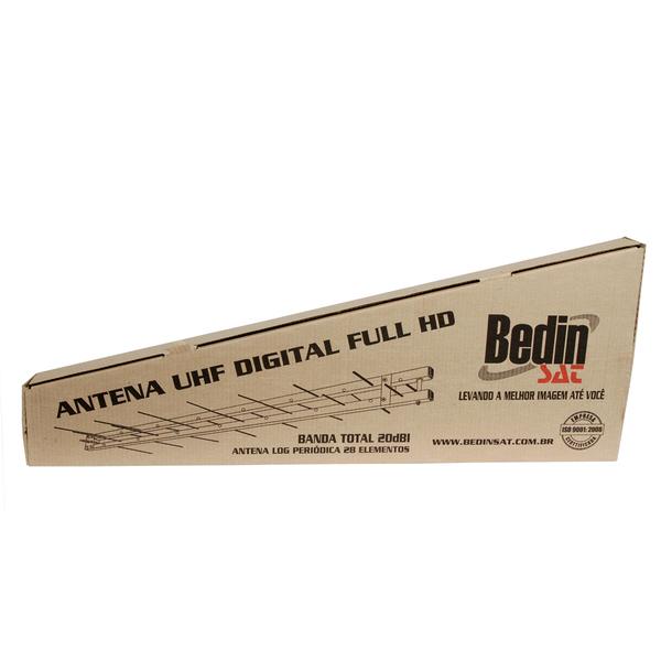 ANTENA DIGITAL HDTV/UHF LOG PERIÓDICA 28 elementos