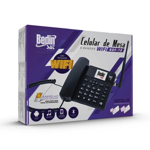 Celular De Mesa 5 bandas 3G BDF-12 Wifi