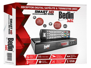 RECEPTOR DECODIFICADOR ANALÓGICO DIGITAL HD SATÉLITE + HD TERRESTRE BS 9500